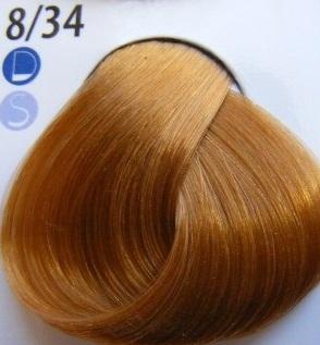 Estel Professional De Luxe Крем-краска 8/34 Золотисто-медный светло-русый
